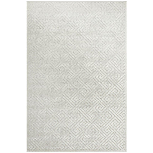 Luxor Natural & White Art Deco Luxury Rug, Rugs, Ozark Home