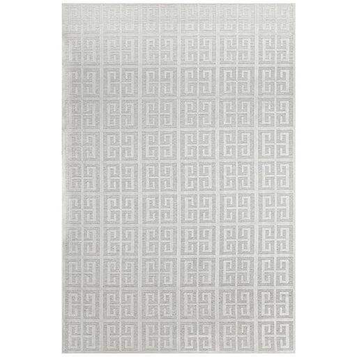 Luxor Natural & White Art Deco Square Luxury Rug, Rugs, Ozark Home