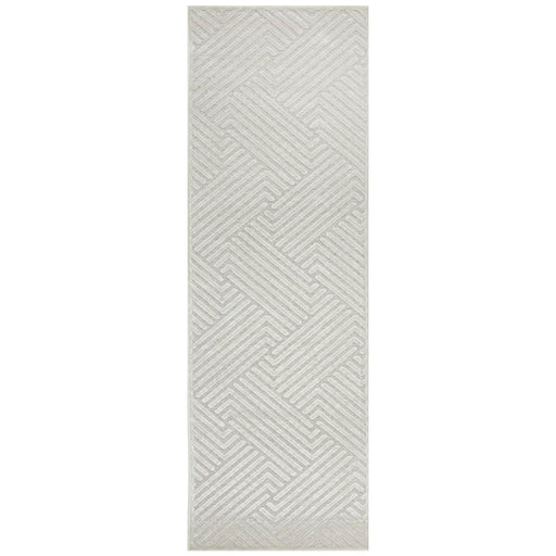 Luxor Natural & White Art Deco Pattern Luxury Runner Rug, Rugs, Ozark Home
