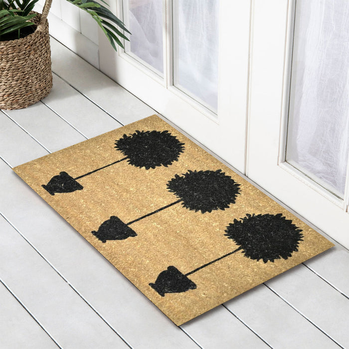 3 Plants PVC Backed Doormat, 45x75cm - Ozark Home