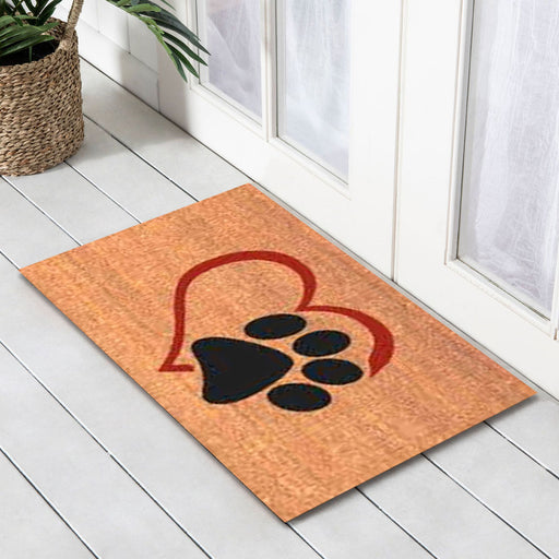 Love Paws PVC Backed Doormat, 50x80cm - Ozark Home