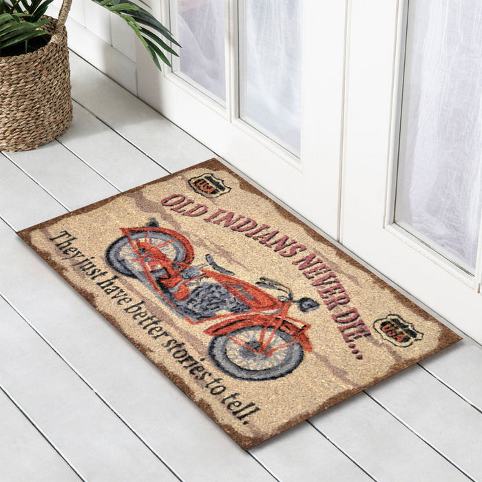Old Indians Never Die, PVC Backed Doormat, 45x75cm - Ozark Home