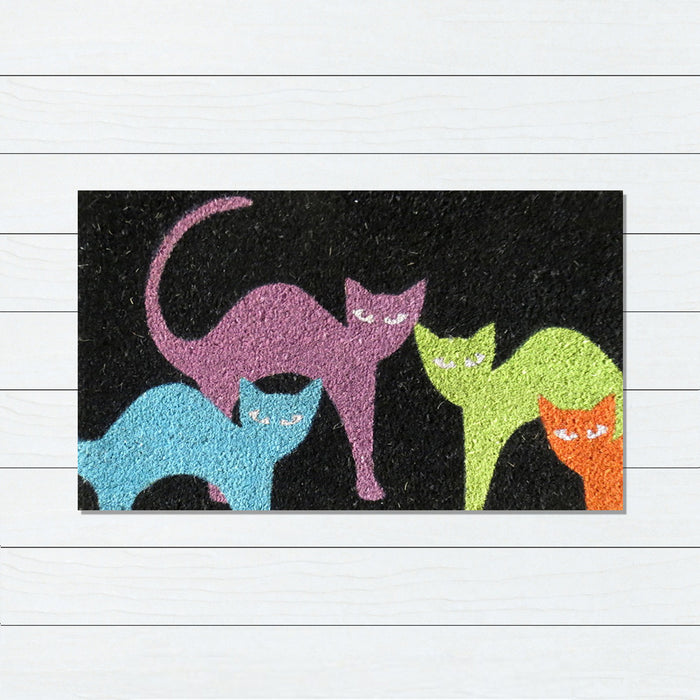 4 Cats PVC Back Doormat, 45x75cm, Doormats, Ozark Home
