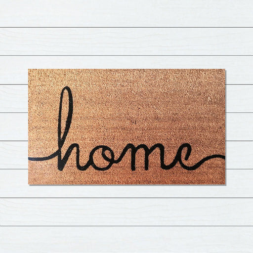 Home Writing PVC Backed Doormat, 50x80cm - Ozark Home