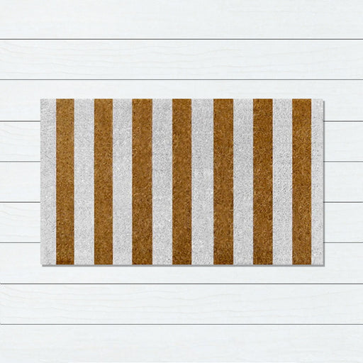 Stripes Gold PVC Backed Doormat, 50x80cm - Ozark Home