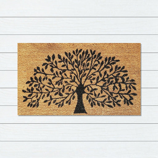 Tree of Life PVC Backed Doormat, 50x80cm - Ozark Home