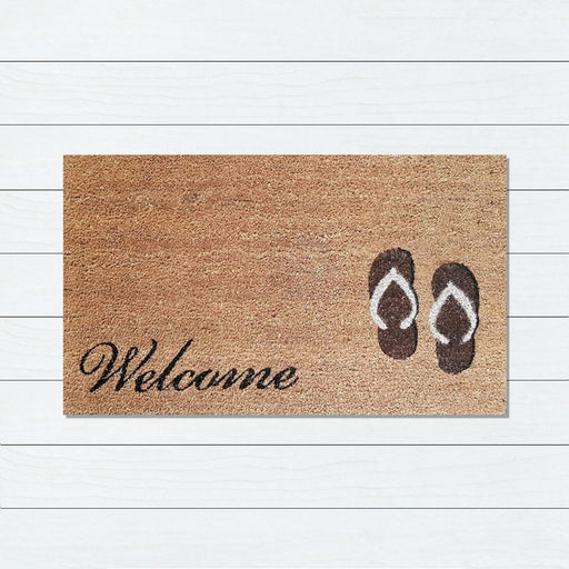 Welcome Thongs PVC Backed Doormat, 45x75cm - Ozark Home