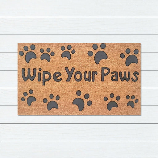 Wipe Your Paws PVC Backed Doormat, 40x70cm - Ozark Home