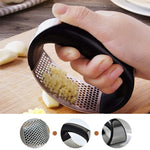Multi-function Manual Garlic Presser Curved Garlic Grinding Slicer Chopper Stainless Steel Garlic Presses Cooking Gadgets Tool