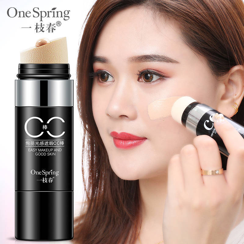 ONESPRING Natural Air Cushion CC cream Moisturizing Foundation Makeup Cover Up Whitening Concealer Stick Brighten Skin Color
