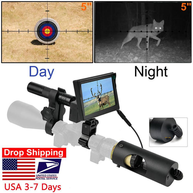 850nm Infrared LED IR Waterproof Hunting Night Vision Camera Riflescope