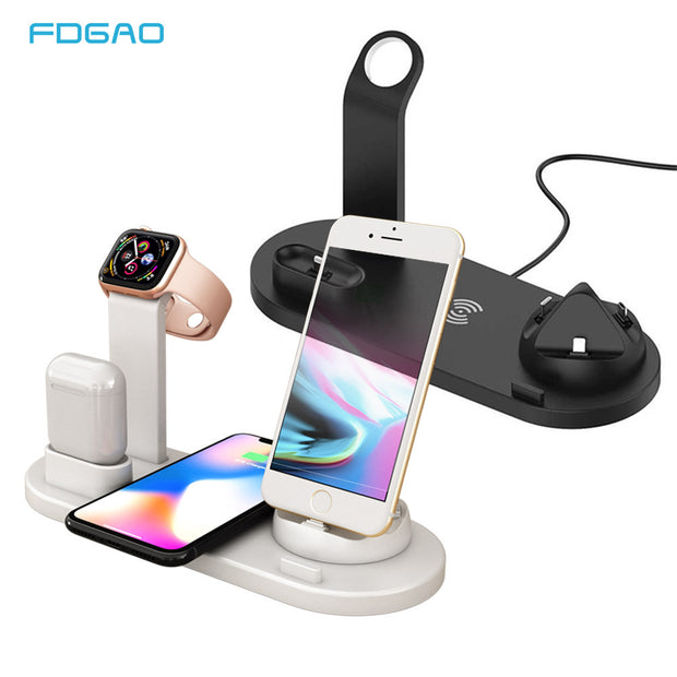 Wireless Charger Stand For iPhone 11 X XS Max XR 8 Plus Fast Charging Dock Station Holder For AirPods pro Apple Watch