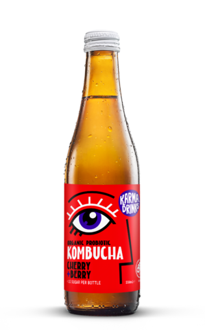 Cherry and Berry Kombucha