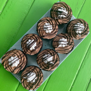 Triple Chocolate Stuffed Cupcakes with Whipped Coconut Cream