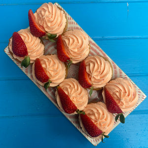 Strawberry and Custard Cupcakes