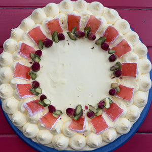 Pistachio and Rosewater Cake