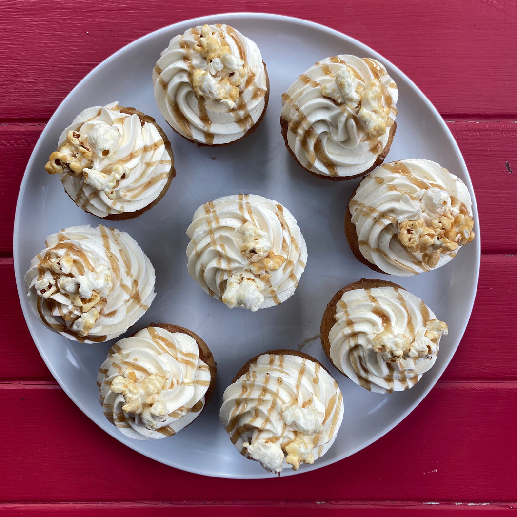 Vanilla and Salted Caramel Cupcakes
