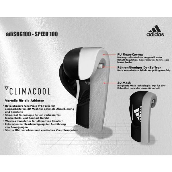 adidas Boxhandschuhe Speed 100 schwarz 12 Oz, ADISBG100-90100-12 - trainer4you