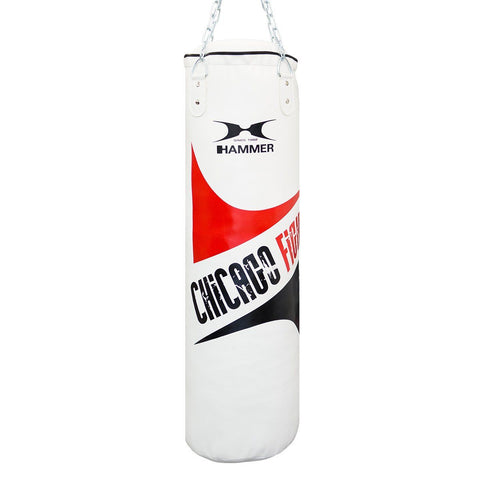 Boxsäcke - Hammer Boxing Boxsack Chicago Fight Weiß 100cm, 93513