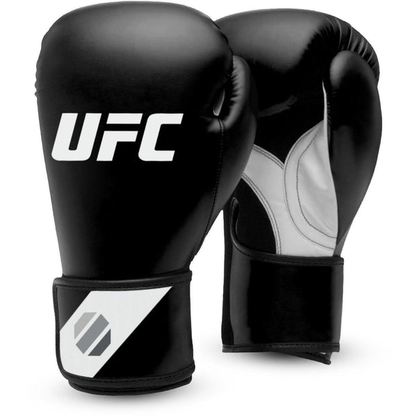 UFC Fitness Training Glove black/white/silver 12oz, UHK-75027 - trainer4you