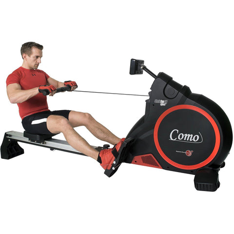 Christopeit Ruderzugmaschine Ergometer Como Black Edition, 30-16601 - trainer4you