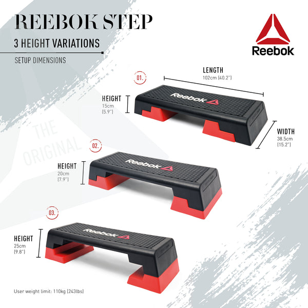 Reebok Step Studio Steppbrett schwarz-rot, RSP-16150 - trainer4you