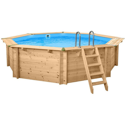 Swimming Pools - Interline Holzpool Bali 8-Eck 530cm Tiefe 136cm, 50700220