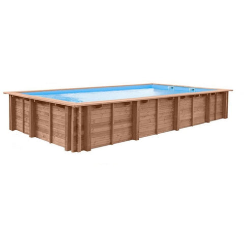 Swimming Pools - Interline Holzpool Bali Rechteck 7,90x4,00m Tiefe 1,38m, 50700244