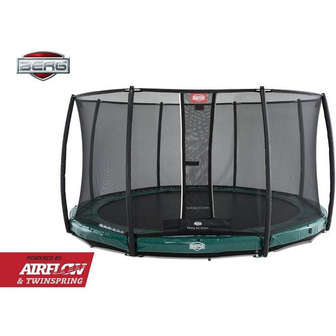 Trampolin - BERG Trampolin InGround Elite 330+Sicherheitsnetz Deluxe ,37.91.07.00