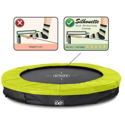 Trampolin - Exit Silhouette Bodentrampolin 183 Lime-Green, 12.94.06.41 1/1