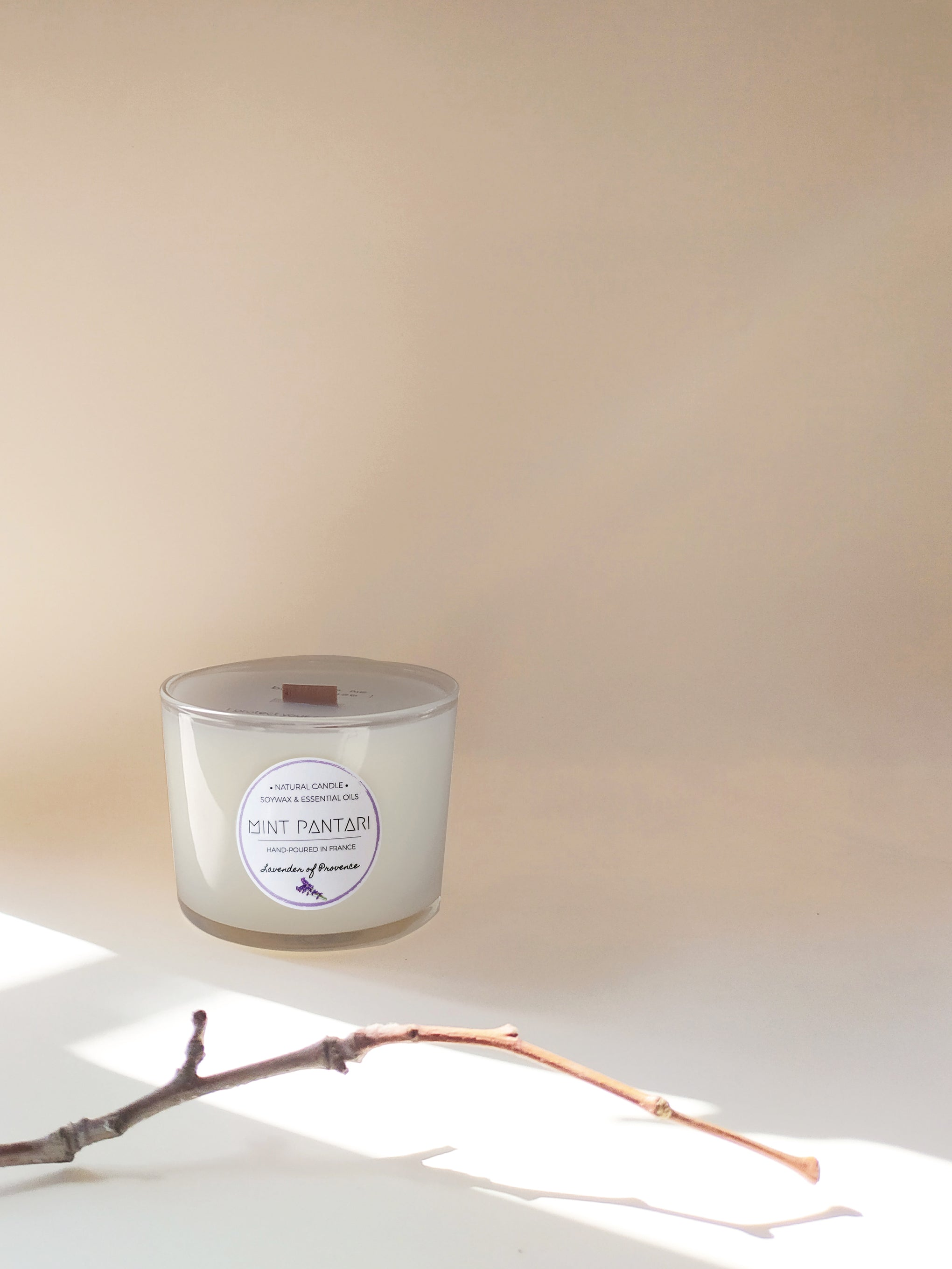 Glass Candles LAVENDER OF PROVENCE Mint Pantari