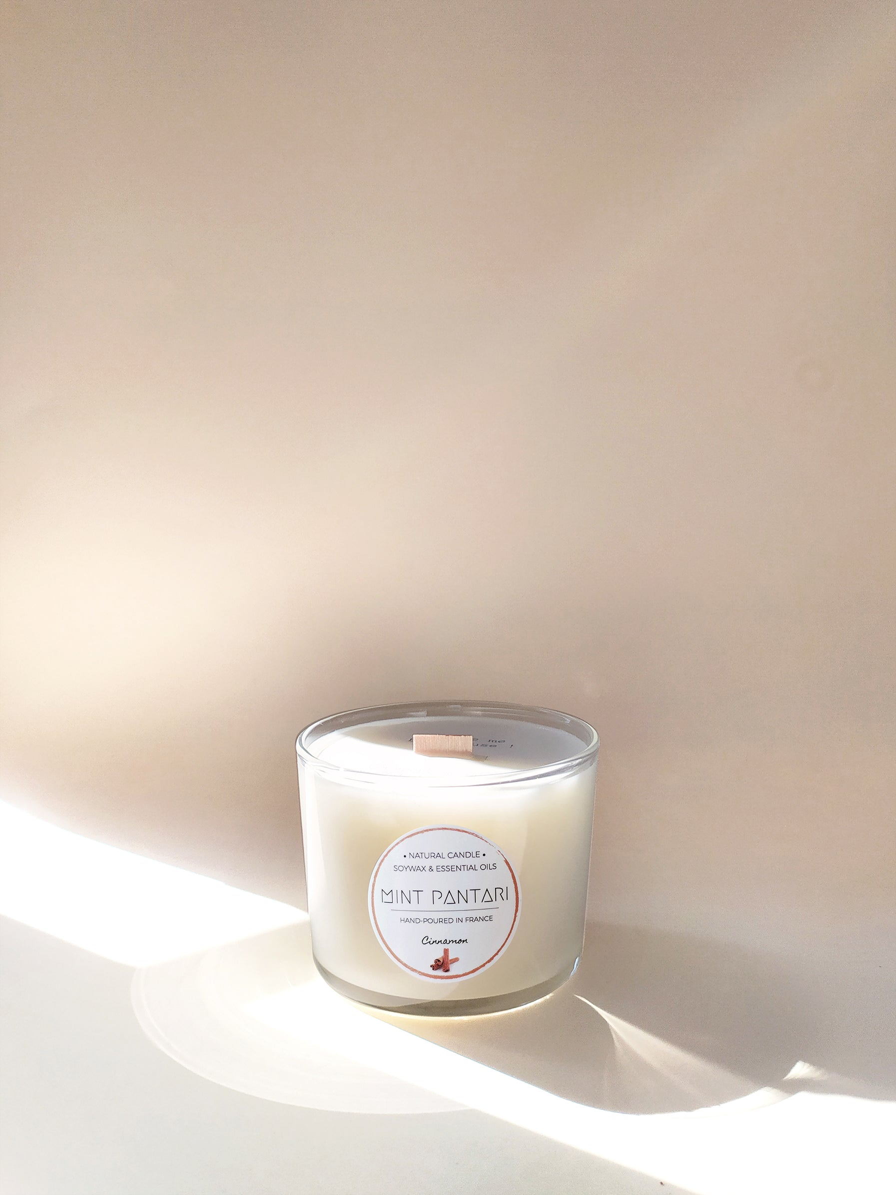 Glass Candles CINNAMON Mint Pantari