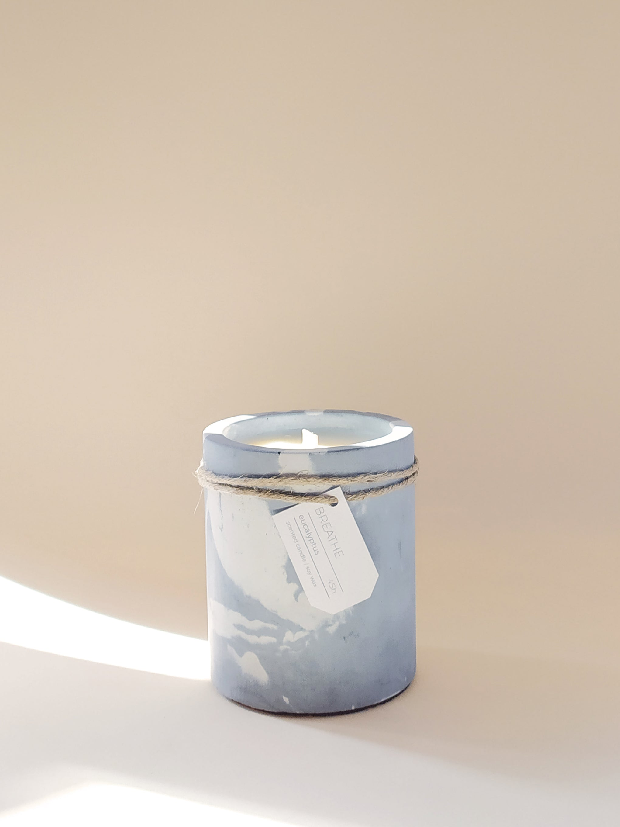 Concrete Candles BREATHE Mint Pantari