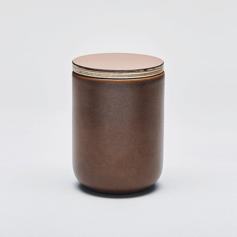 LAND large jar with lid, Chestnut