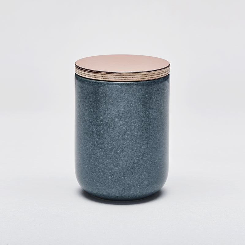 Mette Duedahl LAND large jar with lid, Petrol