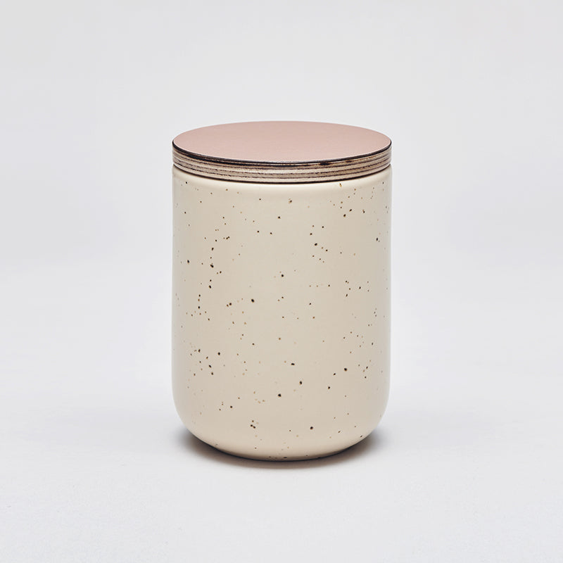 Mette Duedahl LAND large jar with lid, Eggshell