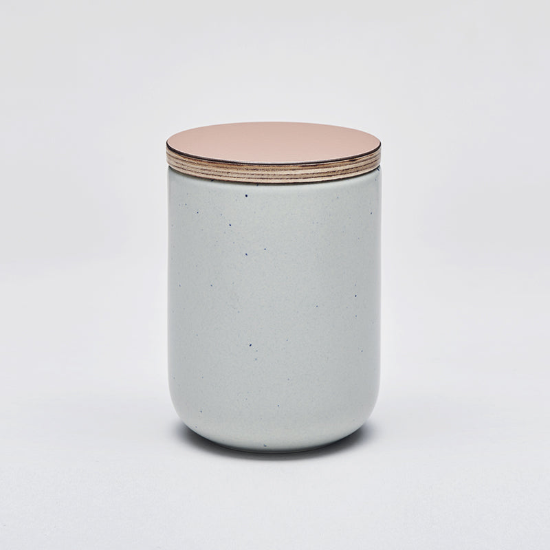 Mette Duedahl LAND large jar with lid, Pale mint