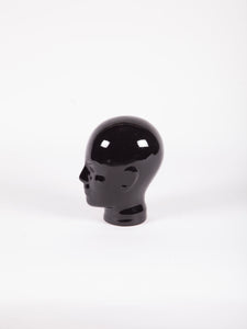 1970s Black Porcelain Head