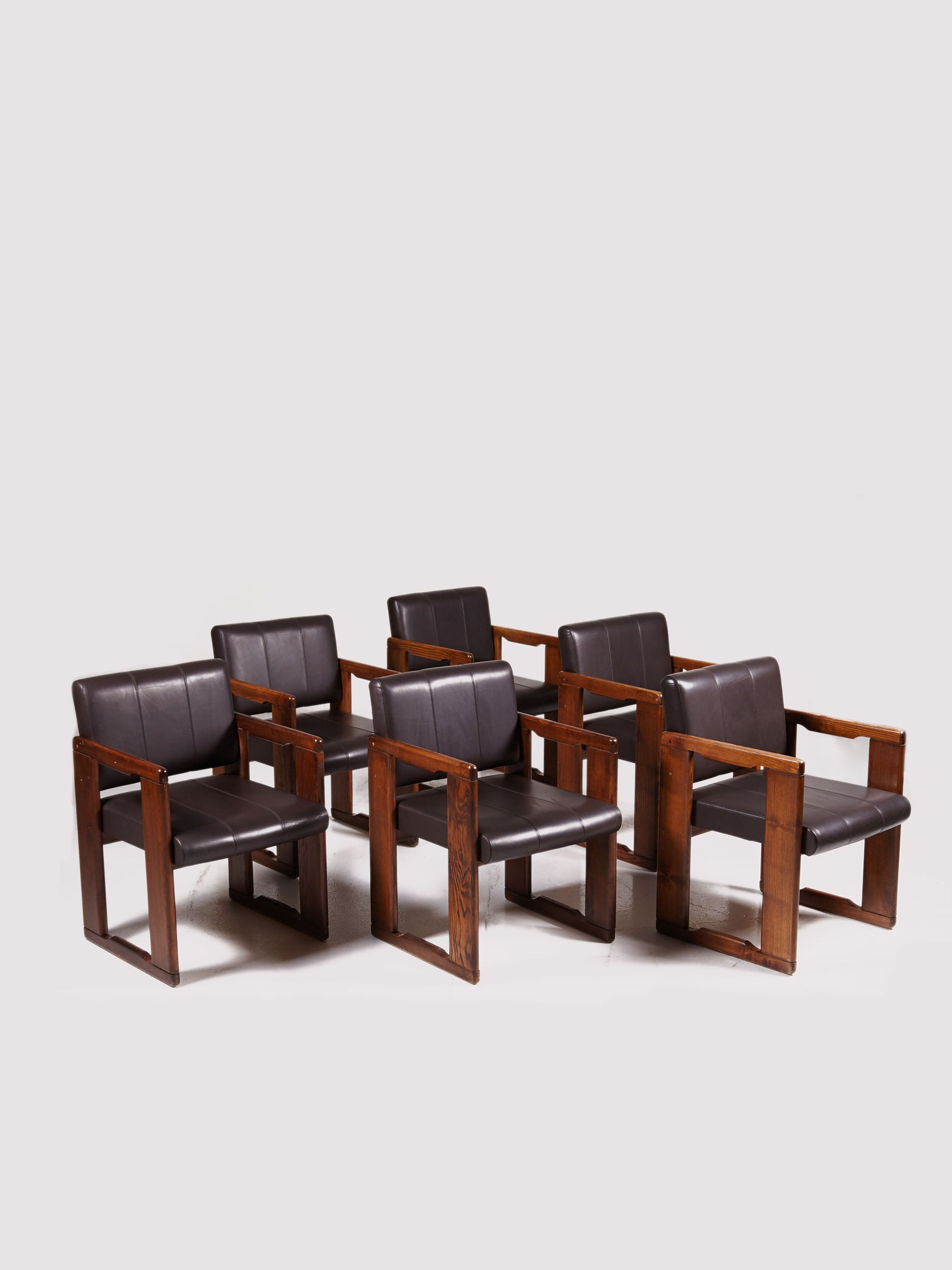 Italian 6 Armchair Set by Tobia Scarpa