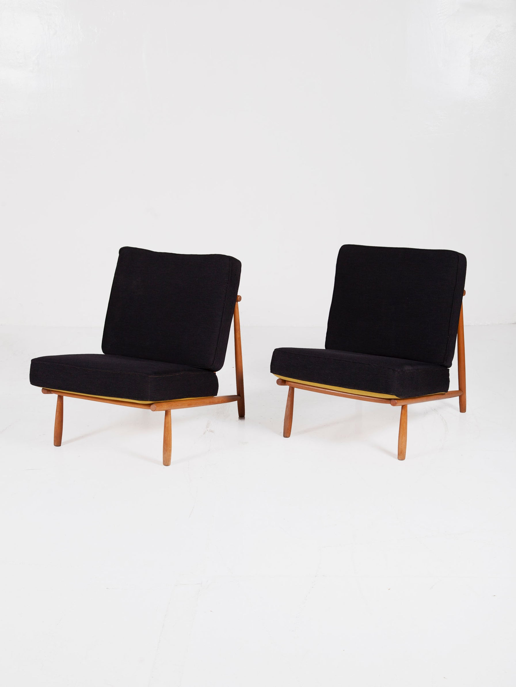 Set of Two Lounge Chairs by Alf Svensson for Dux