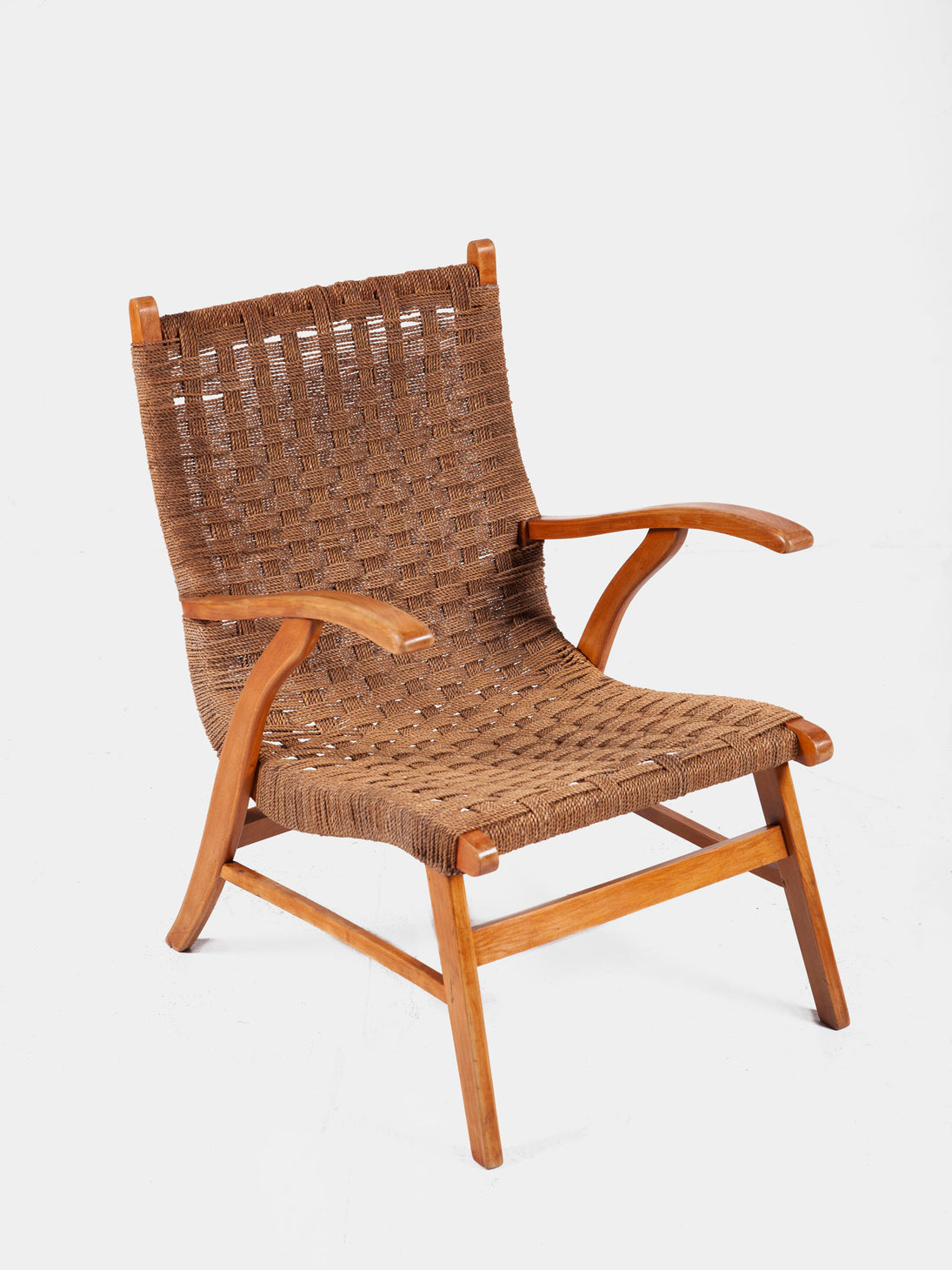 Armchair by Bas Van Pelt in Wood and Rope