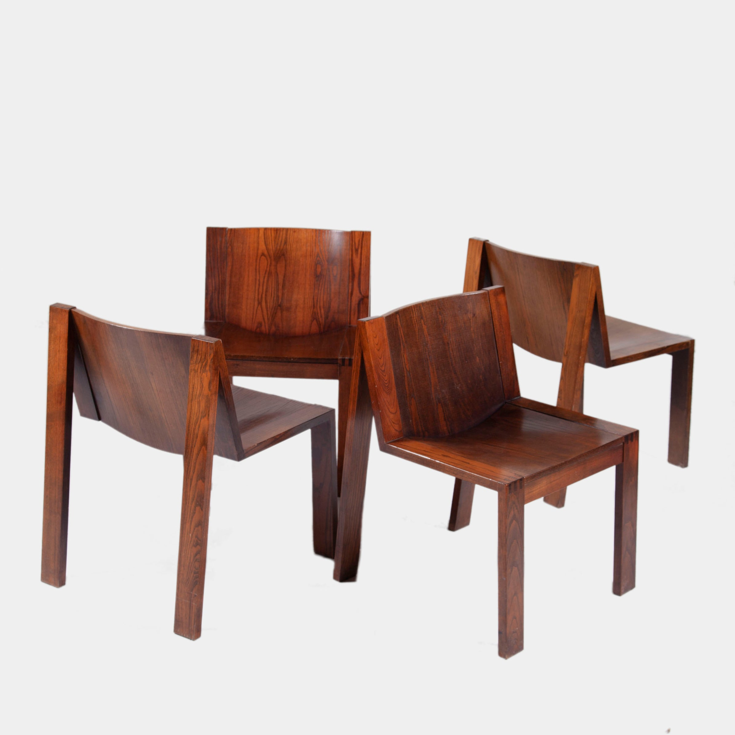 1976 Boonzaijer & Mazairac Four Chair Collection