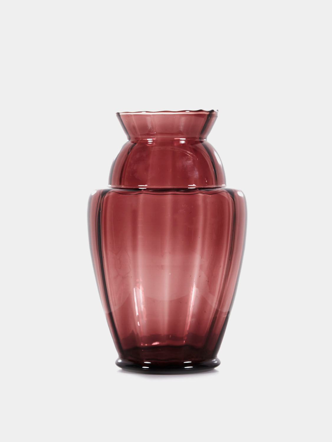 Regal Glass Vase from Val Saint Lambert, 1930s