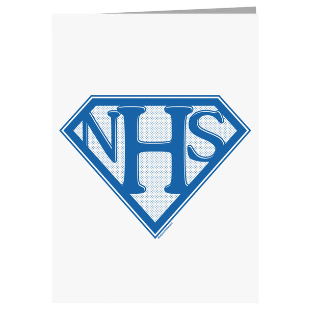 NHS Super Shield Greeting Card-Help Our NHS Heroes