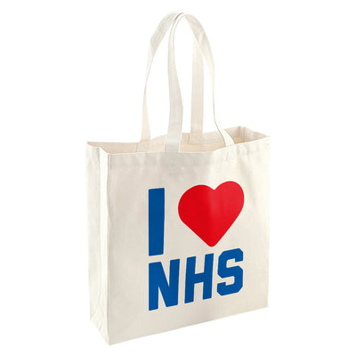 I Heart The NHS Shopper Totebag-Help Our NHS Heroes