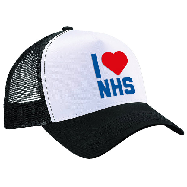 I Heart The NHS Trucker Cap-Help Our NHS Heroes