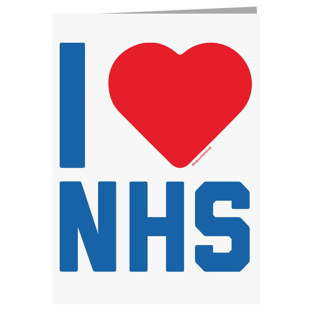 I Heart The NHS Greeting Card-Help Our NHS Heroes