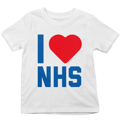 I Heart The NHS Kid's T-Shirt-Help Our NHS Heroes