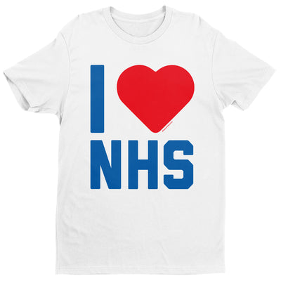I Heart The NHS Men's T-Shirt-Help Our NHS Heroes