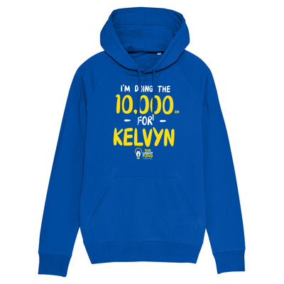 I'm Doing The 10,000 KM For Kelvyn Royal Blue Adult Hooded Sweatshirt